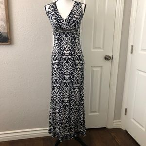 INC Petite VNeck Maxi Dress W/Beaded Waist Size S